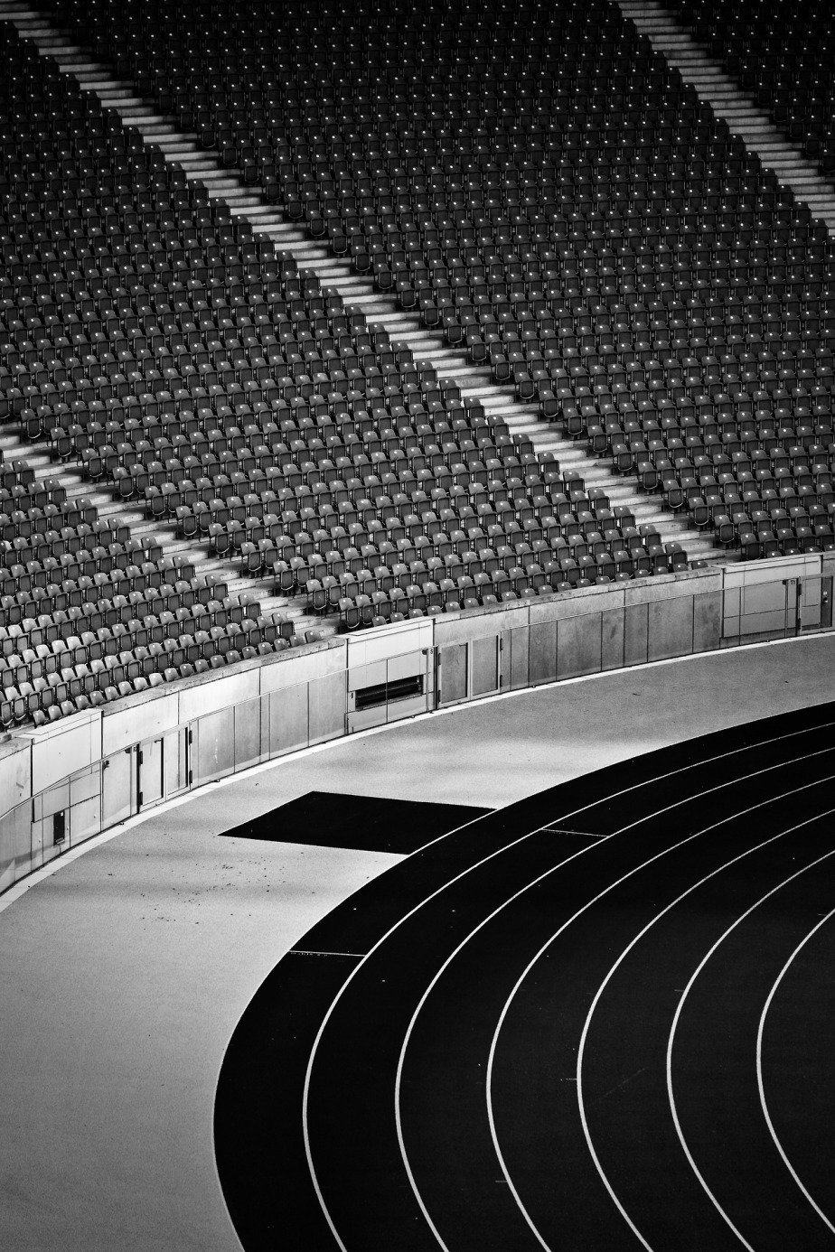 The Olympic Stadium in Berlin, Germany - beautifully photographed in black and white by German photographer Andreas Levers