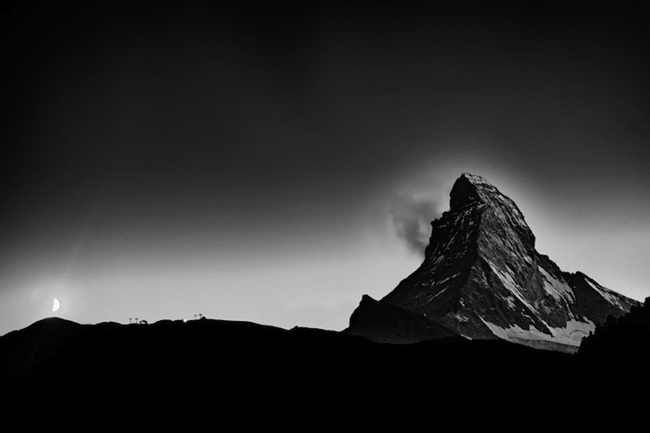 Majestic black and white Matterhorn portraits by Nenad Saljic