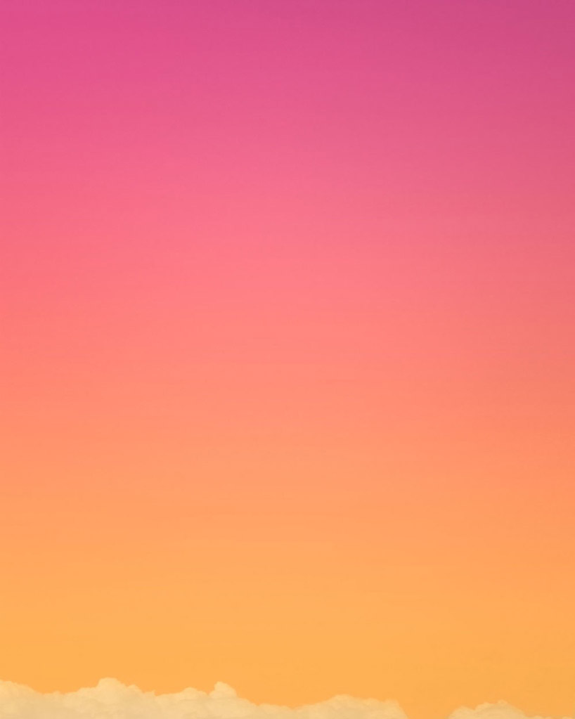 This photographic series by New York photographer Eric Cahan was created by adding filters with a variety of cameras that are both film and digital. Influenced by the California light and space movement, Cahan is interested in achieving an experience of light and color that is seamless and that transcends reality, much like his predecessors like Turrell in the 1960s. Through repetitive printing and filtering, Cahan eventually achieves these finished skyscapes that feel simultaneously surreal and hyper-real, revealing the seemingly magical phenomenon of light as we might experience it ourselves, but as many photographs fail to capture.