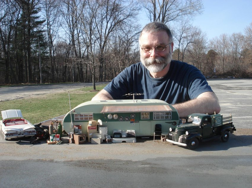 Michael Paul Smith is the perfect example of an artist with a passion for what he does. For the last 25 years, he has spent some of his spare and much of his professional time making miniature models and photographing them, creating a gallery of vintage car photographs from a fictional 1950s American town called Elgin Park.