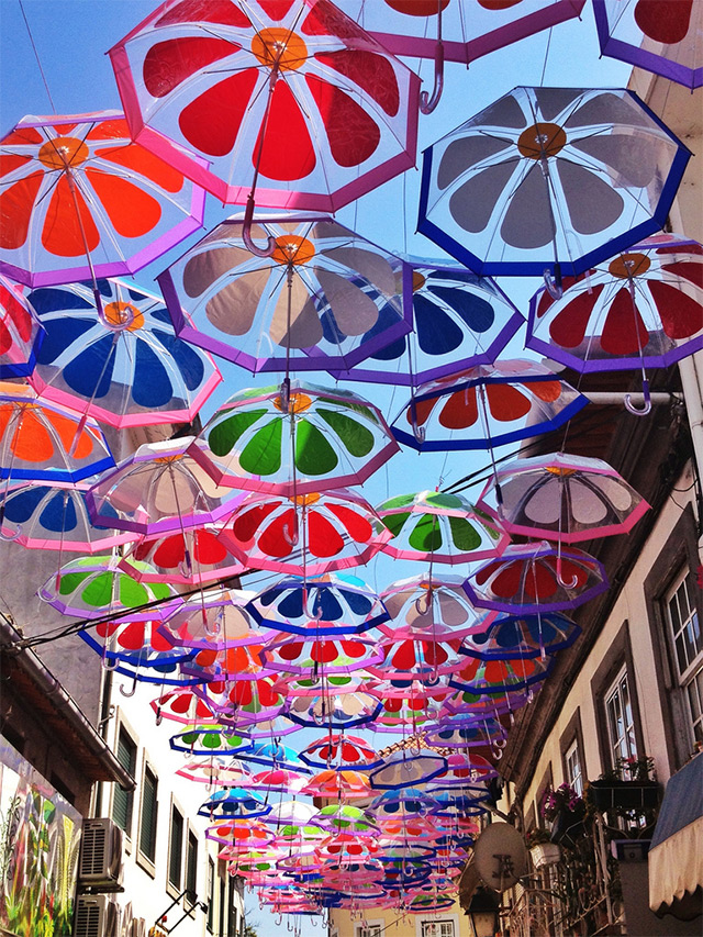 A Colorful Canopy of Umbrellas Returns to the Streets of Agueda, Portugal (2)