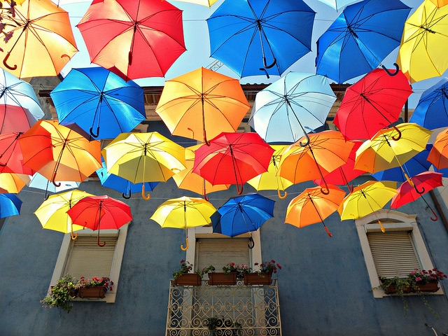 A Colorful Canopy of Umbrellas Returns to the Streets of Agueda, Portugal (3)