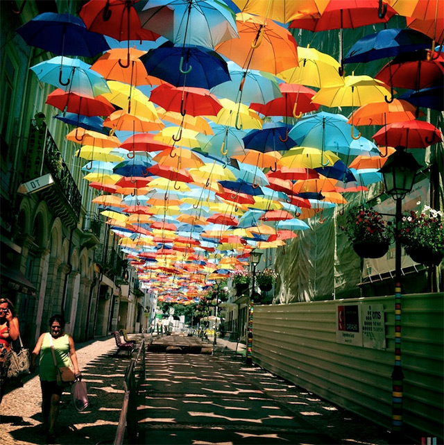 A Colorful Canopy of Umbrellas Returns to the Streets of Agueda, Portugal (4)