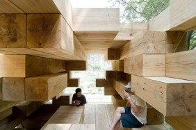 Final Wooden House in Kumamoto, Japan - Sou Fujimoto Architects Photos by Iwan Baan via Archdaily (5)