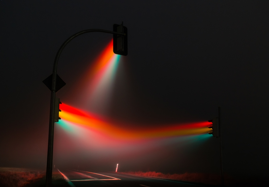 Misty Traffic Lights in Germany Photographed by Lucas Zimmermann (1)