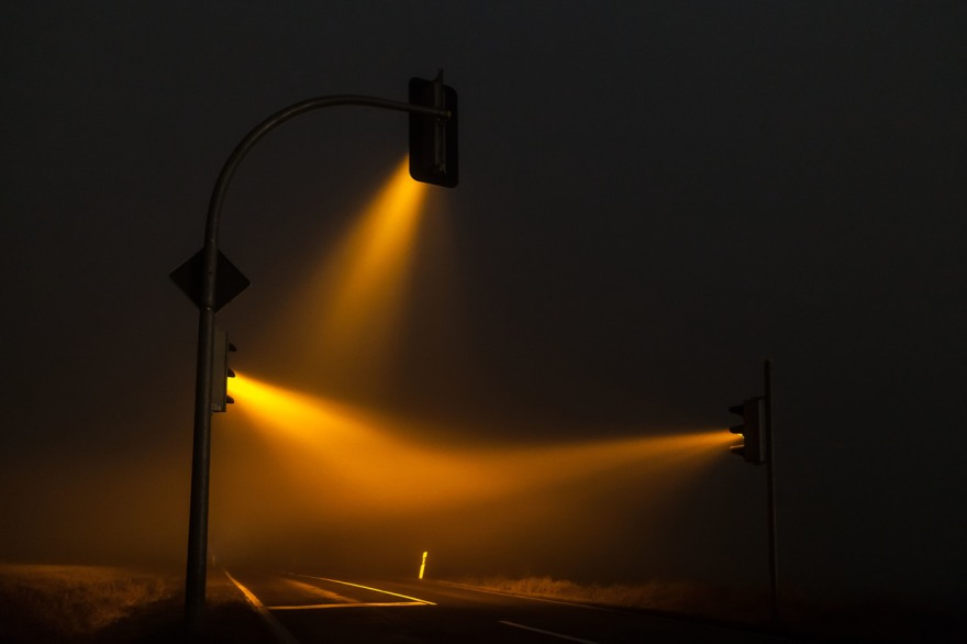 Misty Traffic Lights in Germany Photographed by Lucas Zimmermann (3)