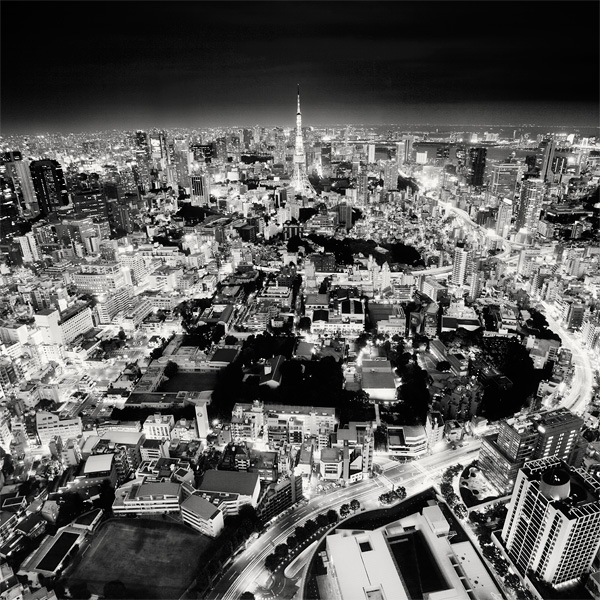Spectacular Black & White Tokyo Cityscape Photography by Marcin Stawiarz (6)