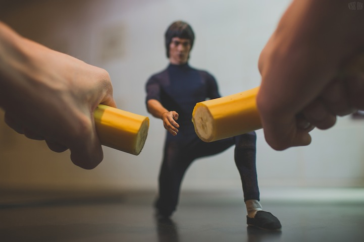 Tiny Bruce Lee Uses Martial Arts to Prepare Breakfast by VSE OK  (3)