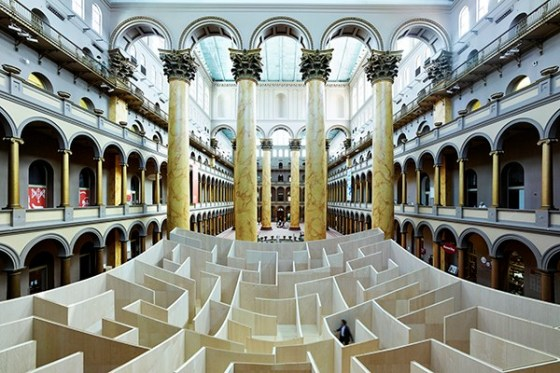 Giant Bjarke Ingels Group Maze Opens The 60-foot maze opens today at the National Building Museum in Washington, D.C (1)