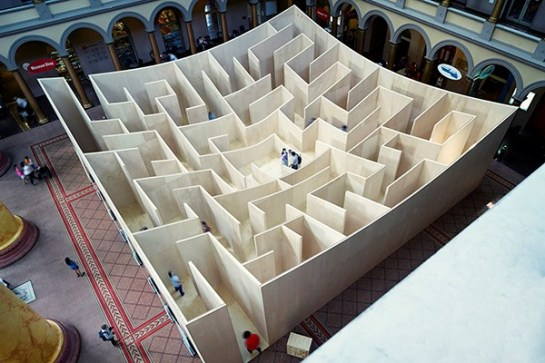 Giant Bjarke Ingels Group Maze Opens The 60-foot maze opens today at the National Building Museum in Washington, D.C (2)
