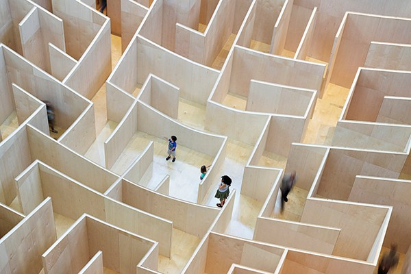 Giant Bjarke Ingels Group Maze Opens The 60-foot maze opens today at the National Building Museum in Washington, D.C (3)