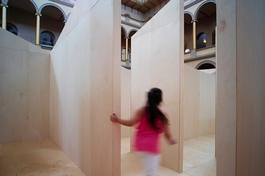 Giant Bjarke Ingels Group Maze Opens The 60-foot maze opens today at the National Building Museum in Washington, D.C (6)