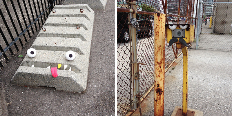 Toon Bombing A Toronto Artist Turns Outdoor Objects into Googly-Eyed Faces (2)