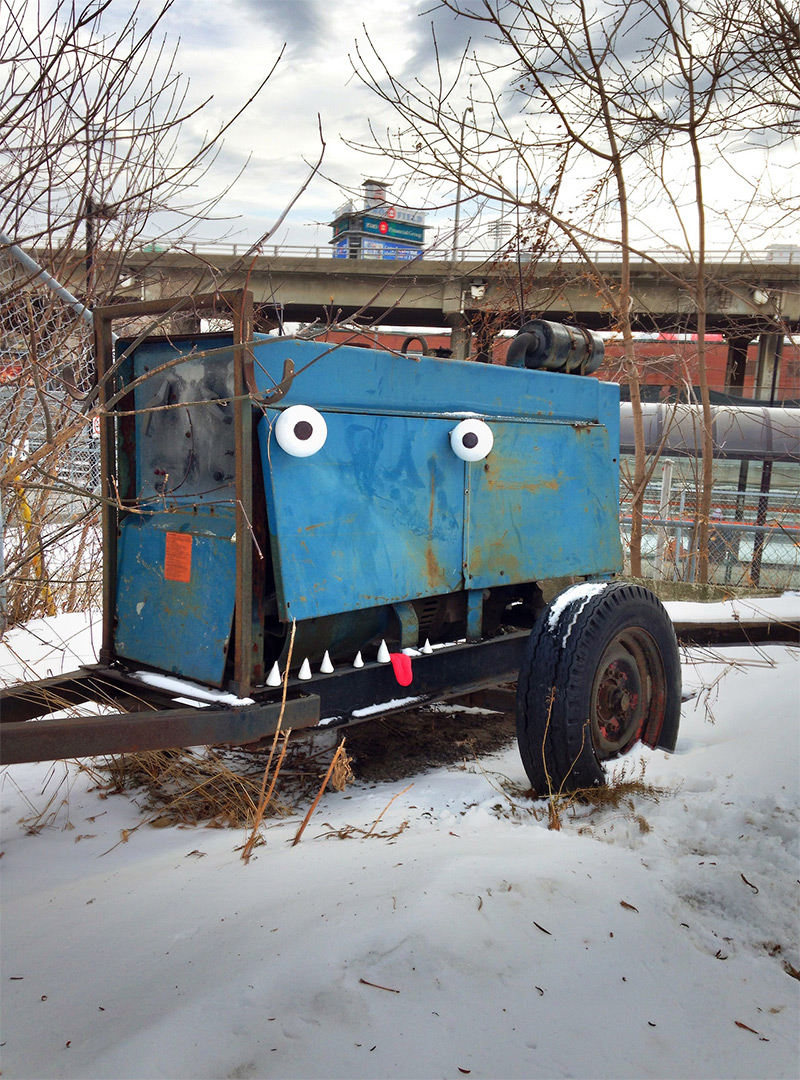 Toon Bombing A Toronto Artist Turns Outdoor Objects into Googly-Eyed Faces (3)
