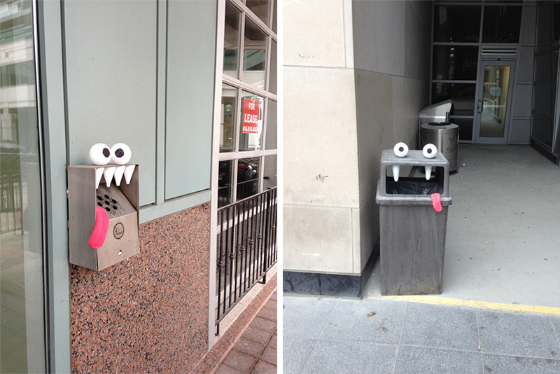 Toon Bombing A Toronto Artist Turns Outdoor Objects into Googly-Eyed Faces (5)
